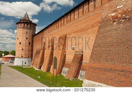 Marinkin Tower Of Kremlin In Kolomna In Summer Sunny Day Moscow Region.