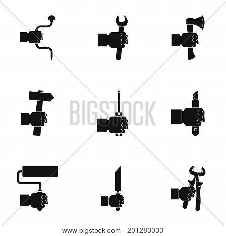 Repair instrument icon set. Simple set of 9 repair instrument vector icons for web isolated on white background