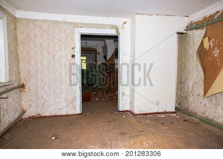 Abandoned House Interior In Chernobyl.chernobyl Radioactive Contamination. Consequences Of Looting A