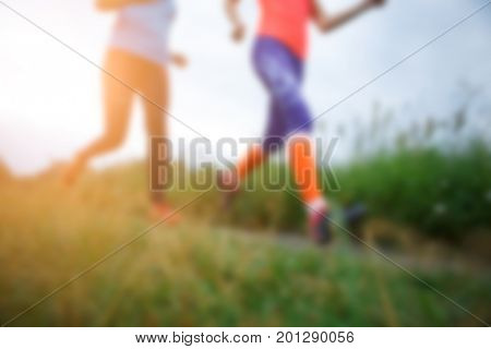 Blurred photo of two girls