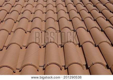 imagen a view of roof tile close-up