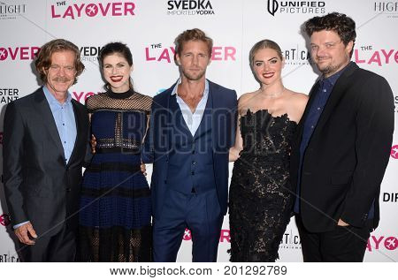 LOS ANGELES - AUG 23:  William H. Macy, Alexandra Daddario. Matt Barr, Kate Upton, Matt Jones at the