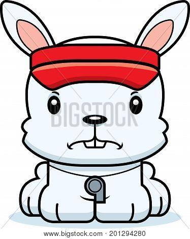 Cartoon Angry Lifeguard Bunny