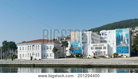 Istanbul Turkey - April 27 2017: Naval High School located on Heybeliada Island (the second largest of the Prince Islands) in the Sea of Marmara to the southeast of Istanbul