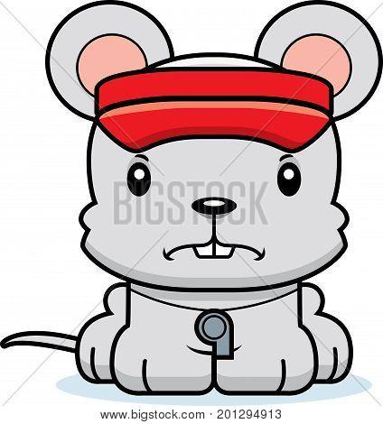 Cartoon Angry Lifeguard Mouse
