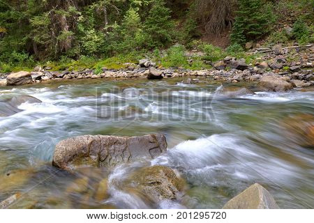 Creek running through Silverton town in CO