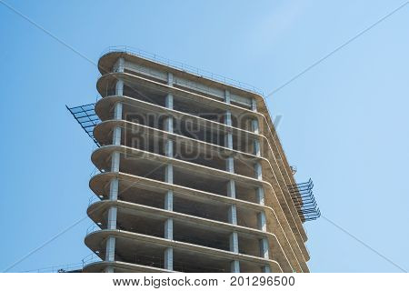 Modern Multi-storey Building. Construction Of Multi-storey Building
