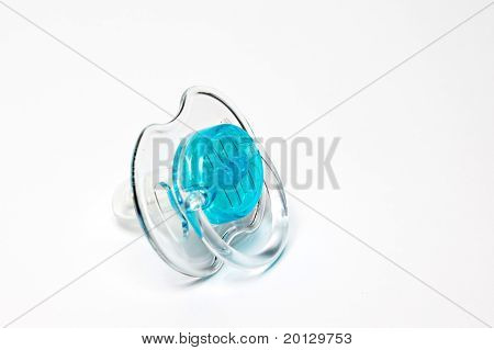 Clear blue pacifier