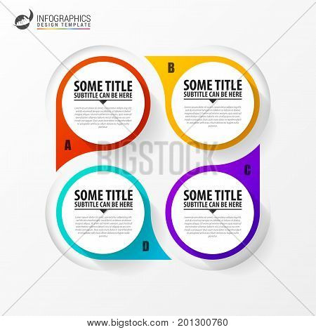 Infographic template. Diagram with 4 steps. Vector illistration