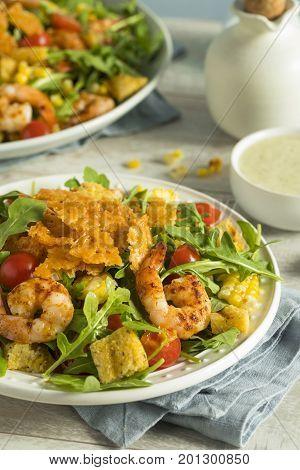 Homemade Arugula Shrimp And Polenta Salad
