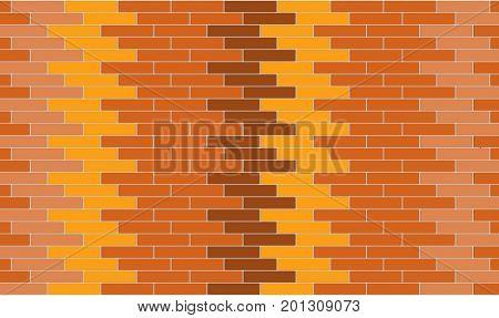 3d render of orange bricks wall texture