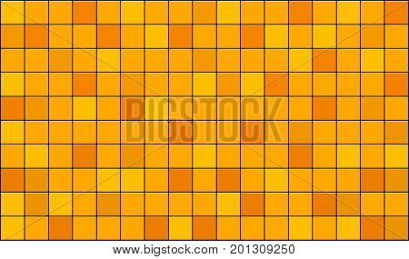 3d render of yellow tiles texture with black gap