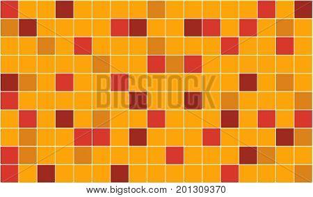 3d render of orange tiles texture with black gap