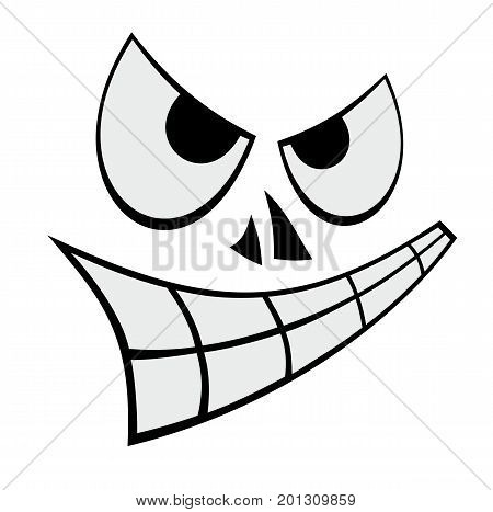 Cartoon vector illustration of humorous sly face