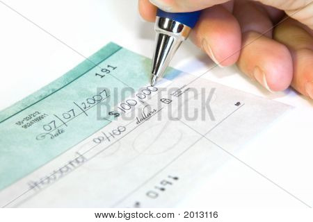 Writing The Check
