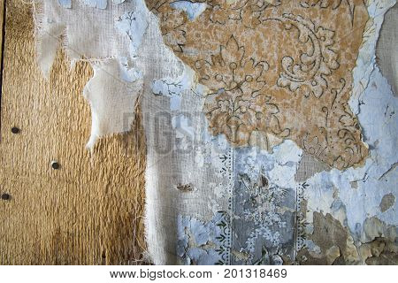 Layers Of Peeling Wallpaper, Bodie, California