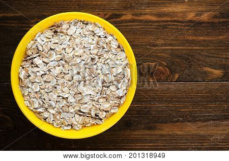 Muesli On A Wooden Table