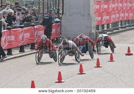 LONDON - APRIL 17: Virgin London Marathon 2011. London, UK. 17/04/2011. Unidentified runners