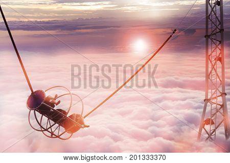 cloudscape. Blue sky and white cloud a large cloud formation