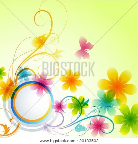 beautiful flower vector background design