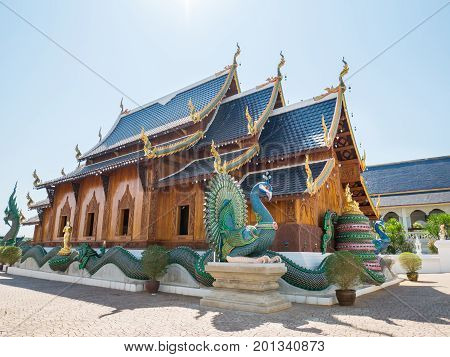 Beautiful temple in Chiangmai,Thailand. Public place for worship in Buddhism