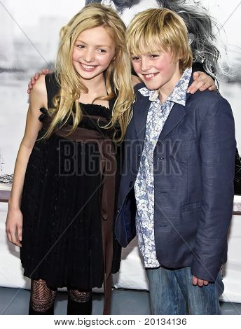 "NEW YORK - MARCH 1: Actress Peyton List and her brother attend the movie premiere of ""Remember Me"" at the Paris Theatre on March 1, 2010 in New York City."