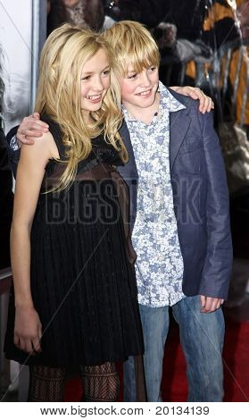 """NEW YORK - MARCH 1: Actress Peyton List and her brother attend the movie premiere of """"Remember Me"""" at the Paris Theatre on March 1, 2010 in New York City."""