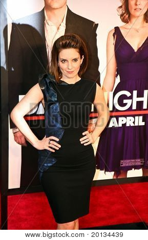 """NEW YORK - APRIL 6: Actress Tina Fey arrives on the red carpet for the premiere of """"Date Night"""" on April 6, 2010 in New York City."""
