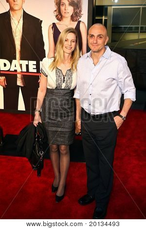 """Actress Katie Wright and actor Hank Azaria attend the movie premiere of """"Date Night"""" at the Ziegfeld Theatre on April 6, 2010 in New York City."""
