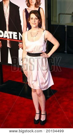 "Actress Melanie Lynskey attends the movie premiere of ""Date Night"" at the Ziegfeld Theatre on April 6, 2010 in New York City."