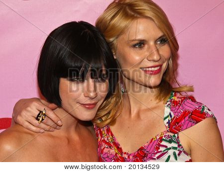 NEW YORK - APRIL 15: Actresses Selma Blair (left) and Claire Danes (right) attend the Zac Posen for Target Collection launch party at the New Yorker Hotel on April 15, 2010 in New York City.