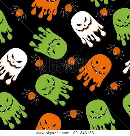 Seamless Pattern Ghost Color