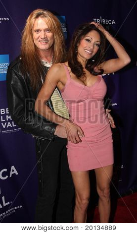 "NEW YORK - APRIL 24: Sebastian Bach and wife, Maria Bierk attend the ""RUSH: Beyond the Lighted Stage"" premiere during the 2010 TriBeCa Film Festival at the School of Visual Arts Theater on April 24, 2010 in New York City."