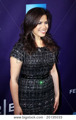 """NEW YORK - APRIL 25: Actress America Ferrera attends the """"Letters to Juliet"""" premiere at the School of Visual Arts Theater during the 2010 TriBeCa Film Festival on April 25, 2010 in New York City."""
