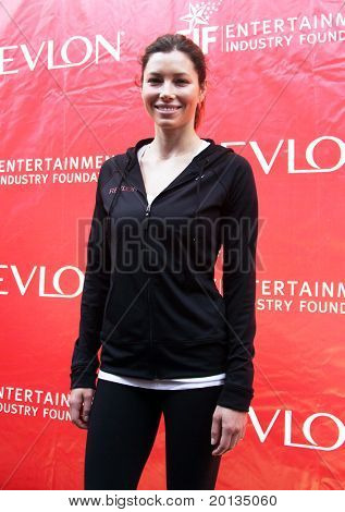 NEW YORK - MAY 1: Jessica Biel attends the 13th Annual Entertainment Industry  Foundation Revlon Run/Walk for Women at Times Square on May 1, 2010 in New York City.