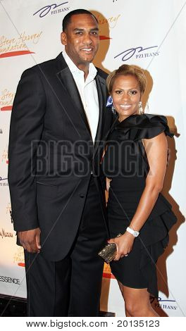 NEW YORK - MAY 3: Former NBA star Steve Smith and guest attend the New York Gala benefiting the Steve Harvey Foundation at Cipriani's, Wall Street on May 3, 2010 in New York City.