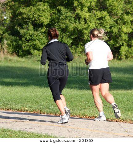 Female Park Joggers