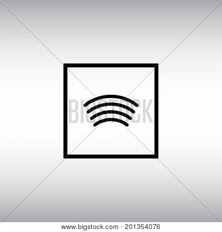Contactless payment technology isolated vector sign. Pay wave flat vector icon. Tap to pay square button image.