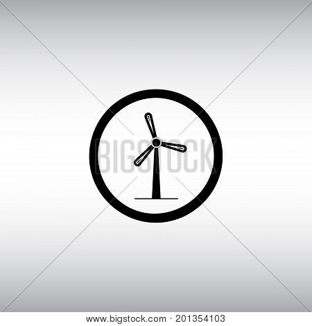 Windmill flat vector sign. Isolated windmill vector icon. Alternative energy symbol. Clean energy source  round vector image.