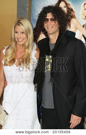 "NEW YORK - MAY 24: Howard Stern and Beth Ostrowsky attend the premiere of ""Sex and the City 2"" at Radio City Music Hall on May 24, 2010 in New York City."