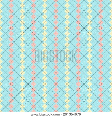 Vector Argyle Pattern Illustration in pale tones