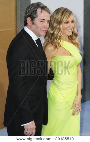 "NEW YORK - MAY 24: Matthew Broderick and Sarah Jessica Parker attend the premiere of ""Sex and the City 2"" at Radio City Music Hall on May 24, 2010 in New York City."