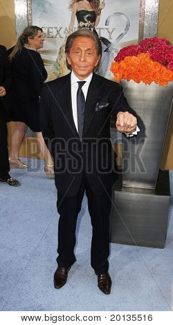 """NEW YORK - MAY 24: Designer Valentino attends the premiere of """"Sex and the City 2"""" at Radio City Music Hall on May 24, 2010 in New York City."""