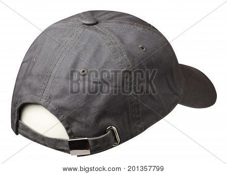 cap isolated on white background. cap with a visor. gray hat