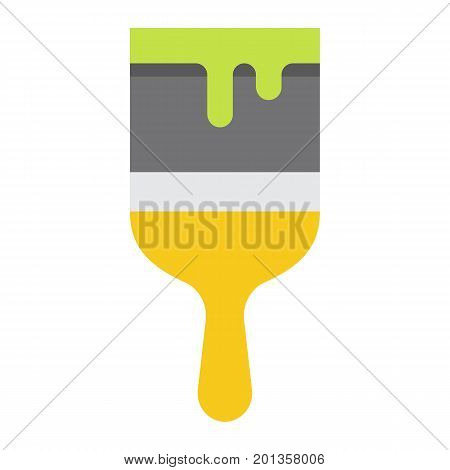 Paint brush flat icon, build and repair, paint sign vector graphics, a colorful solid pattern on a white background, eps 10.