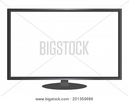 Isolated Vector Black Color 16:9 Aspect Ratio Wide Screen Computer Monitor