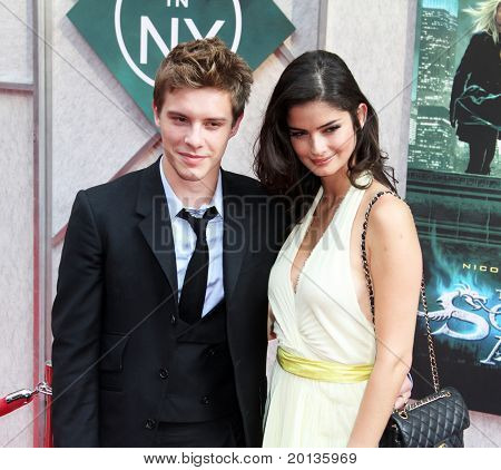 "NEW YORK - JULY 6: Actor Xavier Samuel and Shermine Sharivar attend the premiere of ""The Sorcerer's Apprentice"" at the New Amsterdam Theatre on July 6, 2010 in New York City."