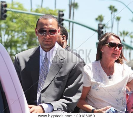 ANAHEIM - JULY 13: New York Yankees shortstop Derek Jeter and his mother attend the 2010 All Star Red Carpet Show on July 13, 2010 in Anaheim, CA.