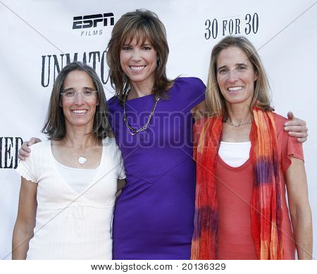 NEW YORK - AUGUST 26: Executive producers Lisa Lax, Hannah Storm and Nancy Stern Winters attend ESPN Films'