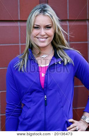 FLUSHING, NY - AUGUST 28: gold medalist Lindsey Vonn attends Arthur Ashe Kids' Day at the Billie Jean King National Tennis Center on August 28, 2010 in Flushing, New York.